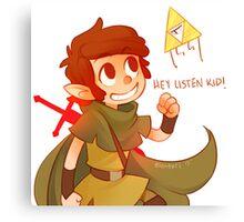 Hey Listen Kid! Canvas Print