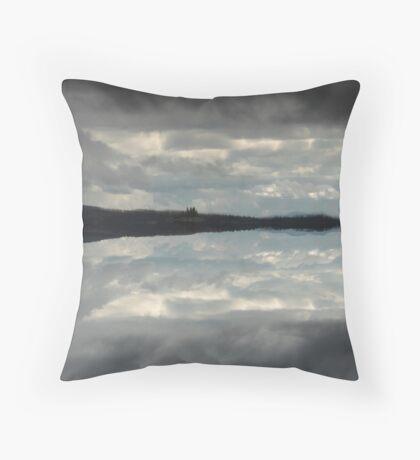 Hidden island in the clouds Throw Pillow