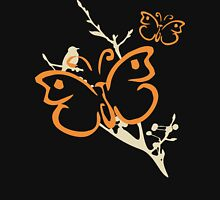 Butterfly Yoga T-Shirt Womens Fitted T-Shirt