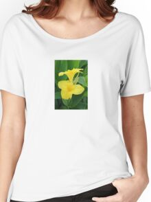Closeup Of A Tropical Yellow Canna Lily Women's Relaxed Fit T-Shirt