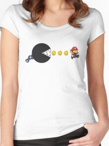 chomp-man Women's Fitted Scoop T-Shirt