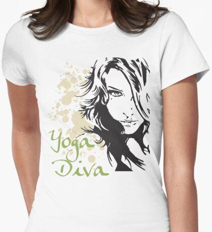 Yoga Diva Womens Fitted T-Shirt