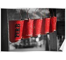 Calico Ghost Town Fire Buckets Poster