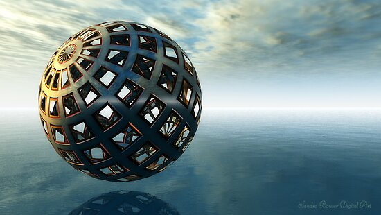 U.O.O.  Unidentified Orb Object by Sandra Bauser Digital Art