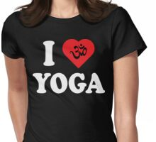 I Love Yoga T-Shirt Womens Fitted T-Shirt