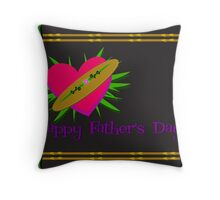 Happy Father's Day Greeting Throw Pillow