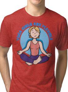 Funny Yogini Yoga T-Shirt Tri-blend T-Shirt