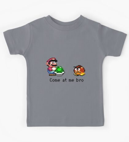 Come at me Bro (Mario) Kids Tee