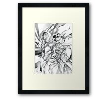 Enter the Branching Sequence - Sketch Pencil Illustration Framed Print