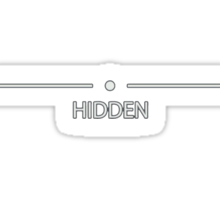 "Skyrim- ""Hidden"" Sticker"