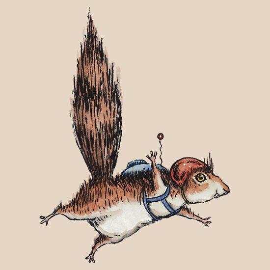 Cute Flying Squirrel Drawing
