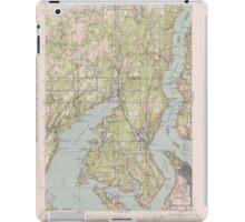USGS Topo Map Washington State WA Gig Harbor 241265 1943 62500 iPad Case/Skin