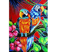 """Parrots''  2.300$ original oil on canvas. Photographic Print"