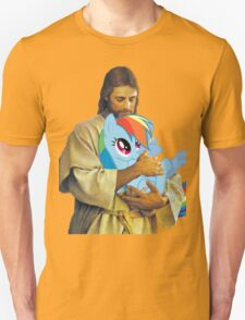 Jesus Loves Rainbow Dash Unisex T-Shirt