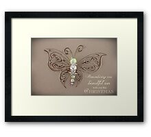 Remembering Your Son This Christmas Framed Print