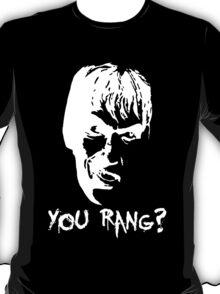 """Lurch """"You rang?"""" White detailing  T-Shirt"""