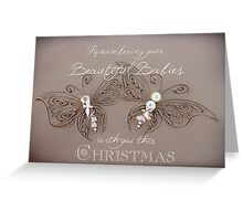 Remembering Your Babies This Christmas Greeting Card