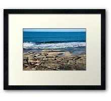 The rocks ~ Caloundra Framed Print