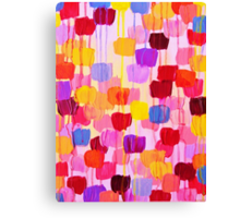 DOTTY in Pink - October Special Revisited Bold Colorful Polka Dots Original Abstract Painting Canvas Print