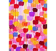 DOTTY in Pink - October Special Revisited Bold Colorful Polka Dots Original Abstract Painting Photographic Print