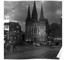 St Pauls from Federation Square Poster