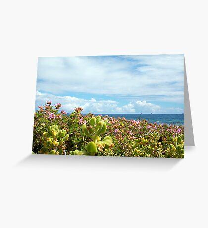 Leighton Beach Flowers - 07 10 12 Greeting Card