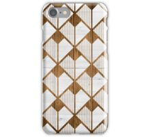 Wooden geometry iPhone Case/Skin