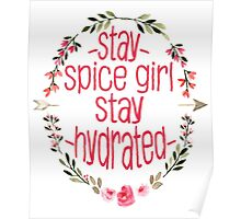 Stay Spice, Stay Hydrated. Poster