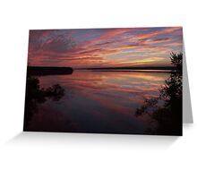 Blue October, Jordan Lake, NC Greeting Card