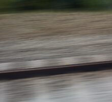 Train Motion Blue Four 16 10 12 by Robert Phillips