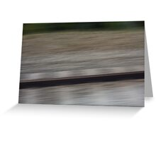 Train Motion Blue Four 16 10 12 Greeting Card