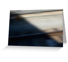 Train Motion Blue Three 16 10 12 Greeting Card