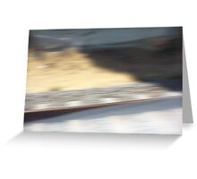 Train Motion Blue Two 16 10 12 Greeting Card