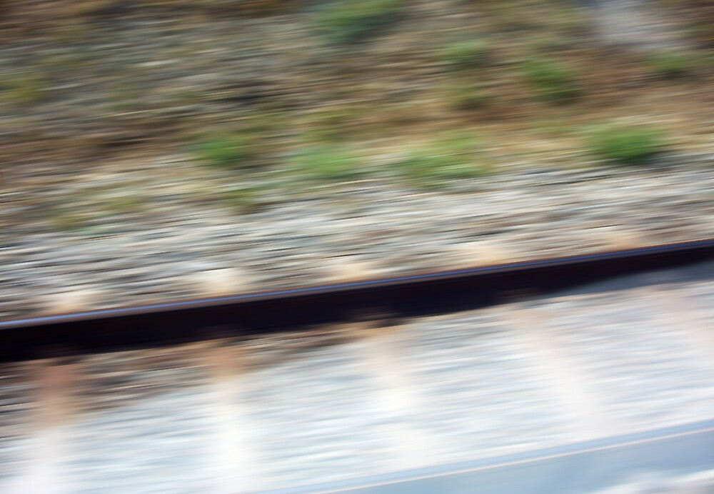 Train Motion Blue One 16 10 12 by Robert Phillips