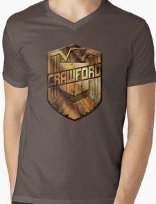 Custom Dredd Badge Shirt - (Crawford)  Mens V-Neck T-Shirt