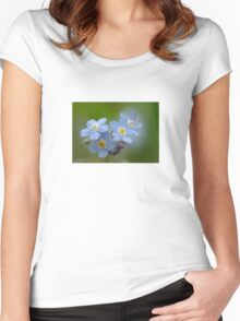 Close-up Forget Me Not - Blue Myosotis Women's Fitted Scoop T-Shirt