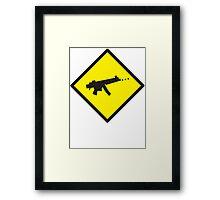 Beware Digital GAMER crossing design Framed Print
