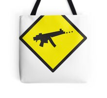 Beware Digital GAMER crossing design Tote Bag