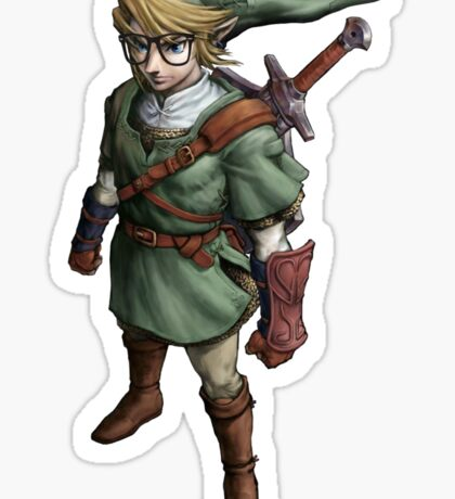 Hipster Link Sticker