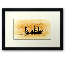 'Home For Supper' Framed Print
