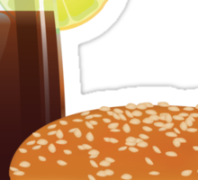 Hamburgers & Iced Tea Sticker