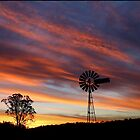 Windmill Sunset by kcy011