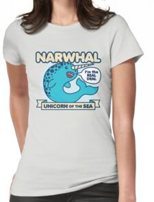 Narwhal Womens Fitted T-Shirt