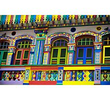 Colorful Building in Little India, Singapore Photographic Print