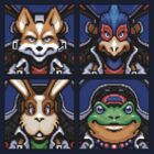 Fox, Peppy, Falco & Slippy by Quillix