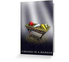 Cheeses in a Manger Greeting Card