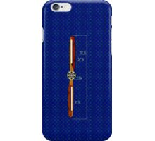 Old Wooden Propeller Schematic iPhone Case/Skin