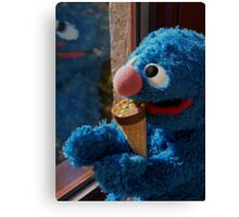 Hungry Grover Canvas Print