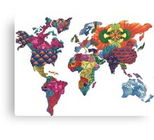 Map in Color Canvas Print