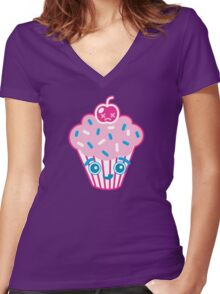 Cuppers Mc Cupcake Women's Fitted V-Neck T-Shirt